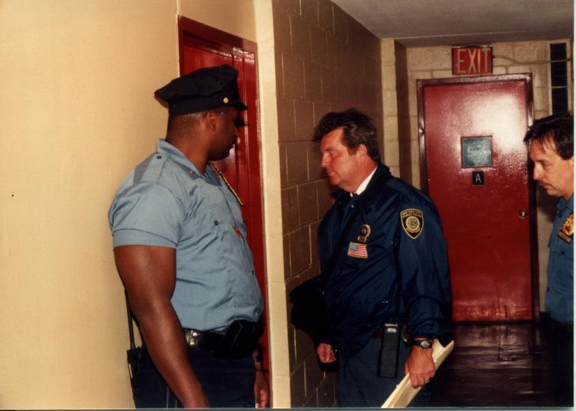 Lee w warrant, Sonny against wall, Dennis right.jpg