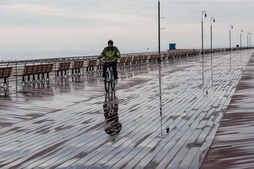 Biker wet boardwalkDSC_7046