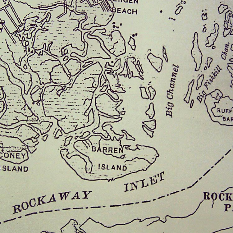 1890 map of Barren Island