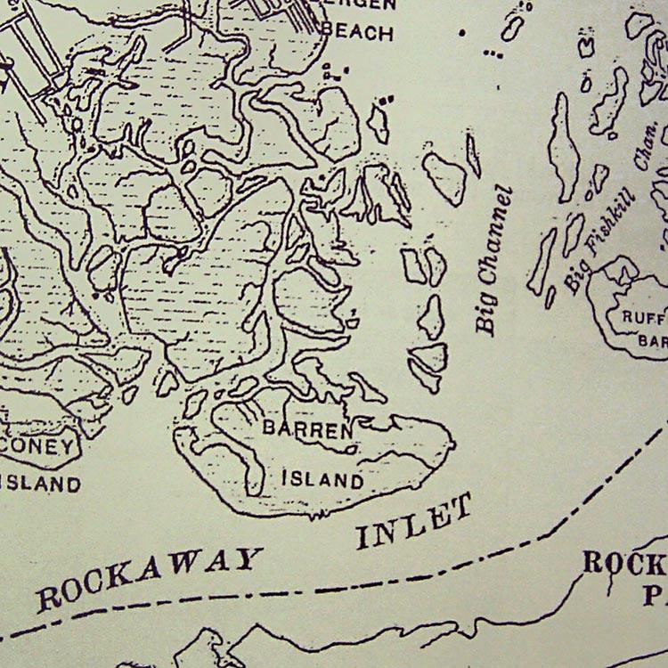 1890 map of Barren Island
