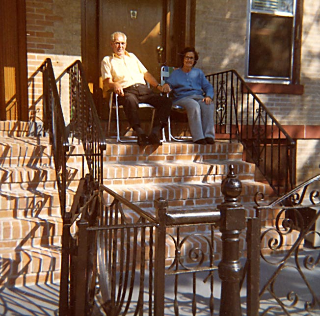 Mom and Dad 2 on  stoop