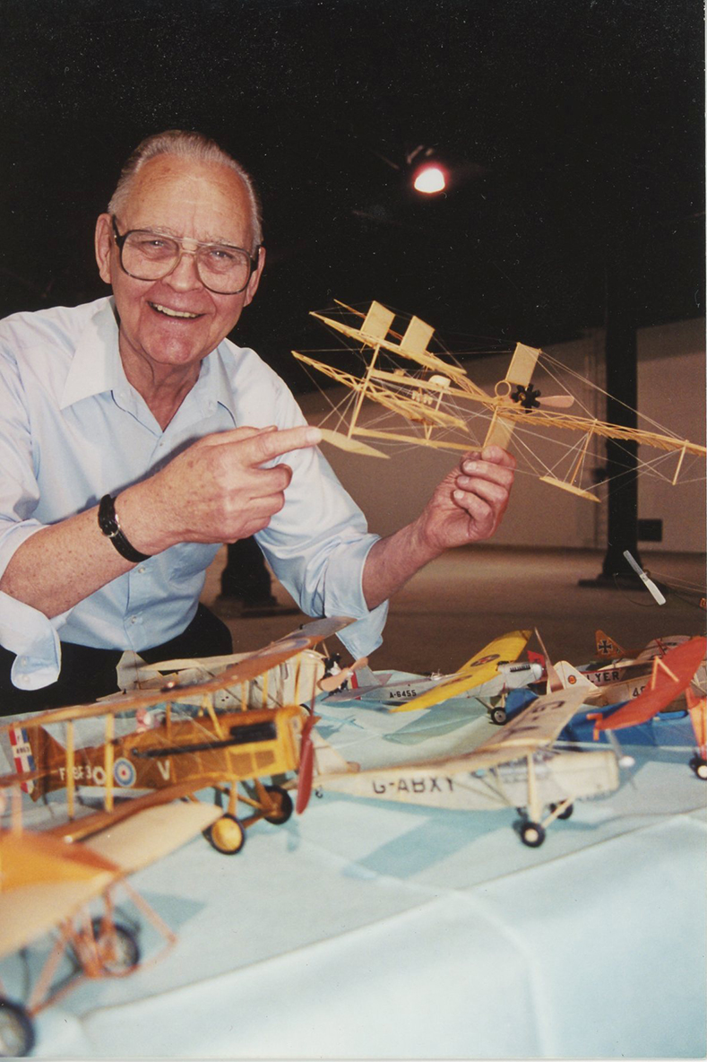 Dad with plane
