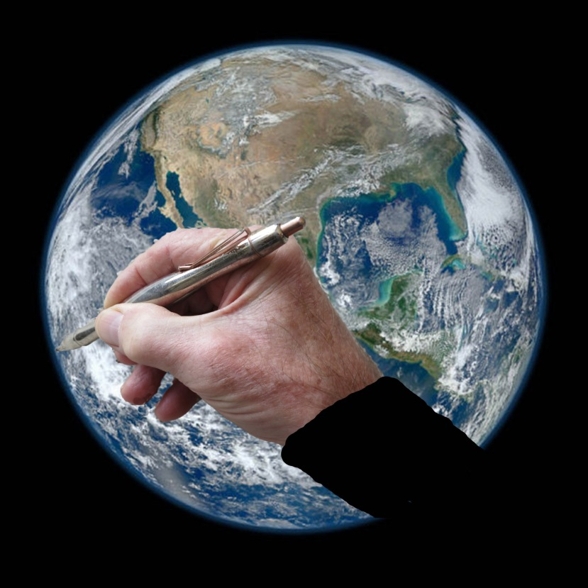 Earth with pen sleeve