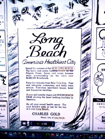 Long Beach ad 1937