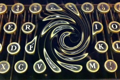 typewriter keys cave