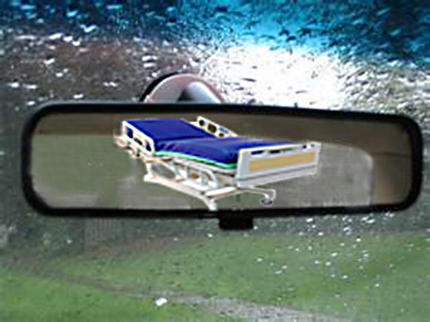 Rear view mirror hospital