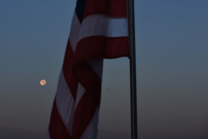 Moon flag close